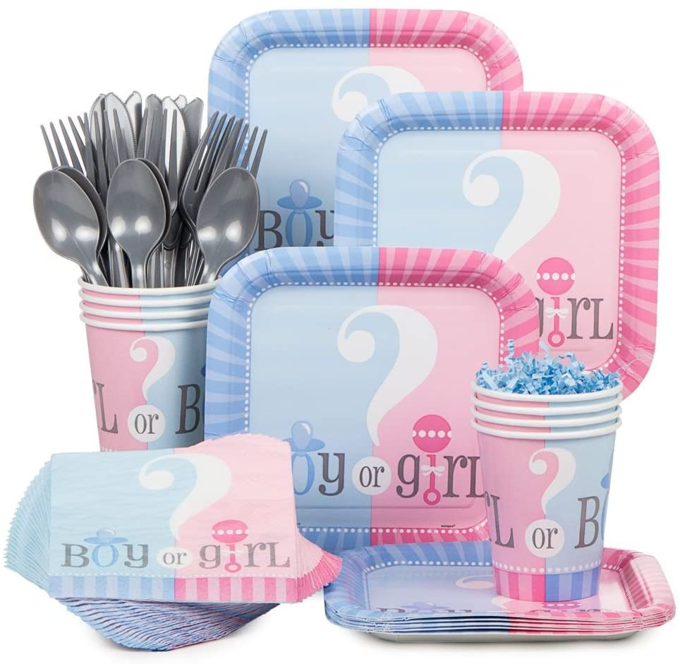 Baby Gender Reveal Partyware Kit