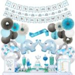 Blue Elephant Baby Shower Decorations1