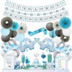 Blue Elephant Baby Shower Decorations1