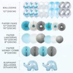 Blue Elephant Baby Shower Decorations2