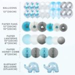 Blue Elephant Baby Shower Decorations2