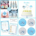 Blue Elephant Baby Shower Decorations4