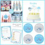 Blue Elephant Baby Shower Decorations4