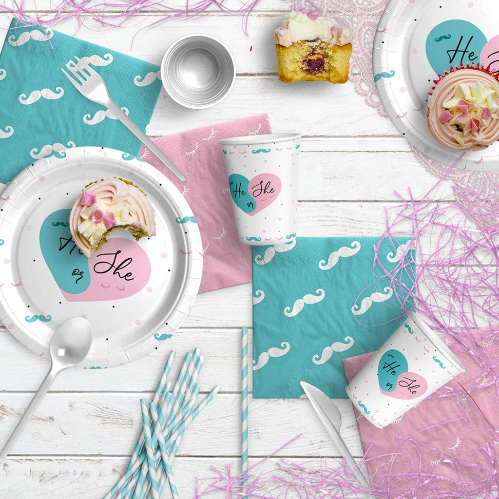 Gender Reveal Party Supplies Kit2