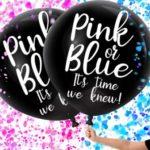 Gender reveal ballon with confetti
