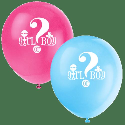 Gender reveal ballons