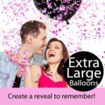 Giant Black XL Confetti Balloons2