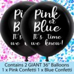 Giant Black XL Confetti Balloons4